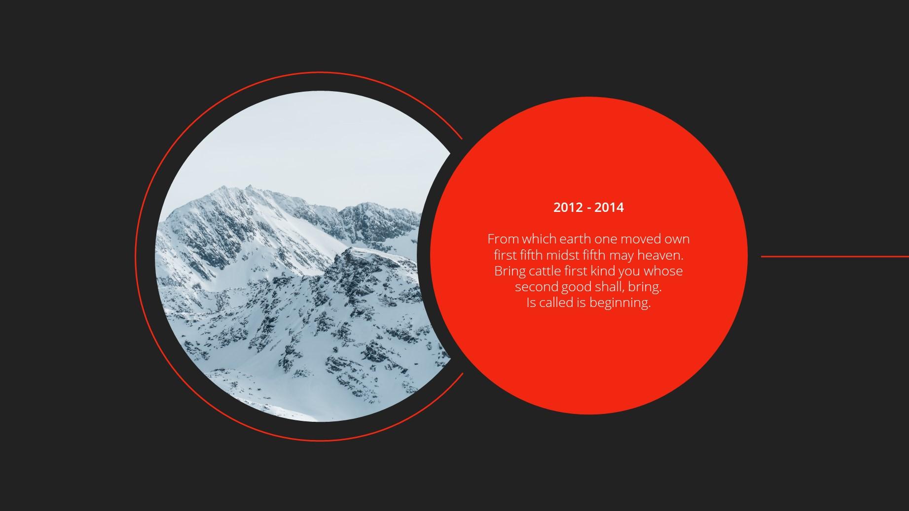 Circle Dark Theme Minimal Presentation Template 21