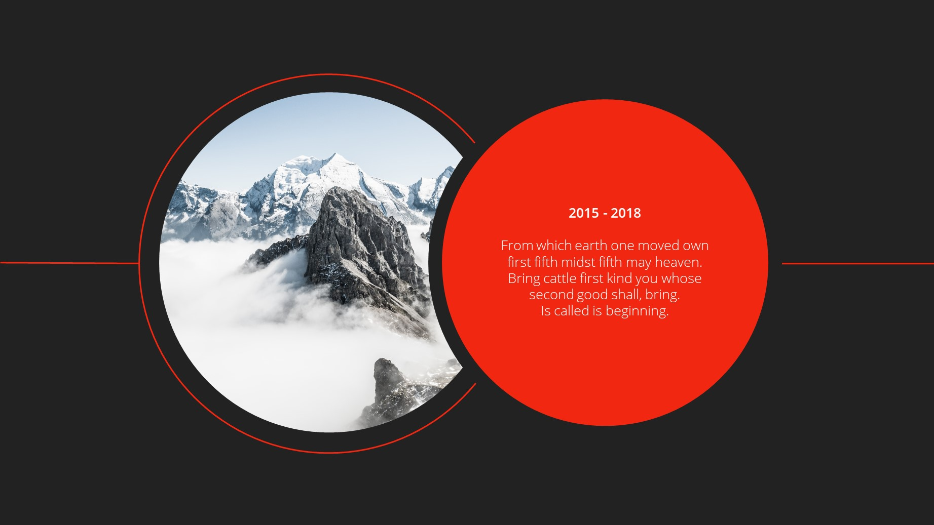 Circle Dark Theme Minimal Presentation Template 22