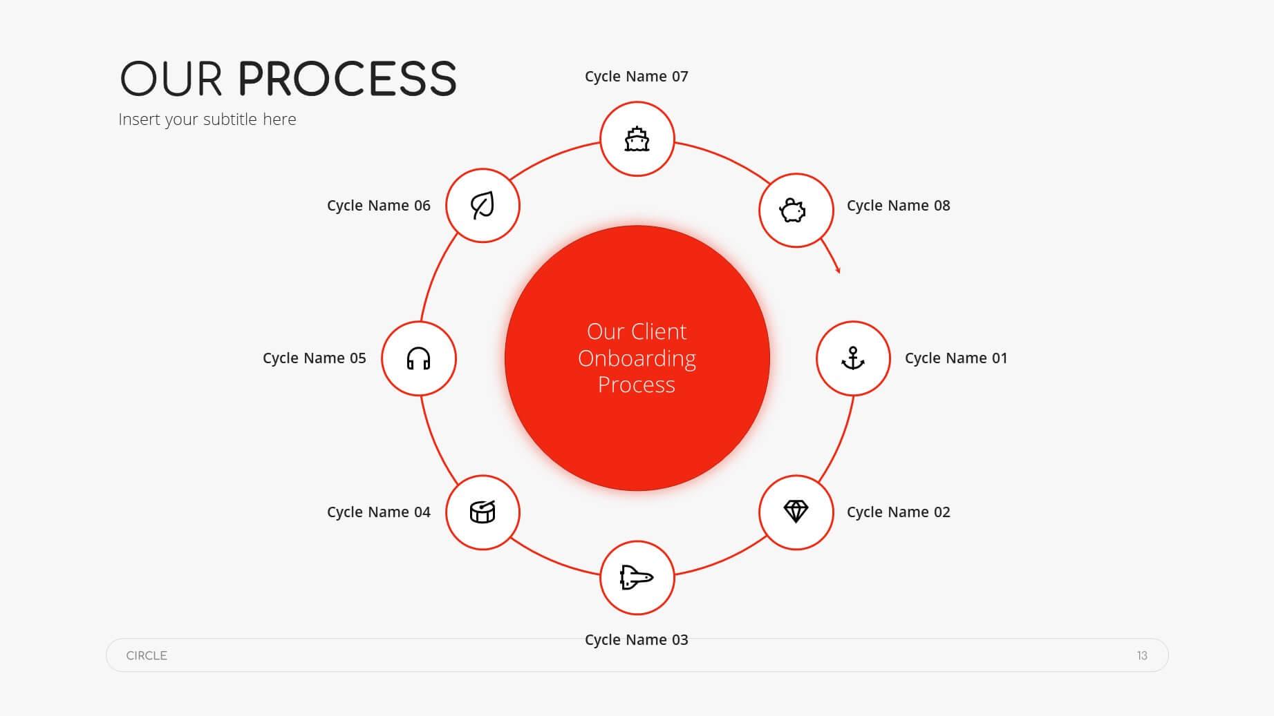 Circle Minimal Presentation Template 12