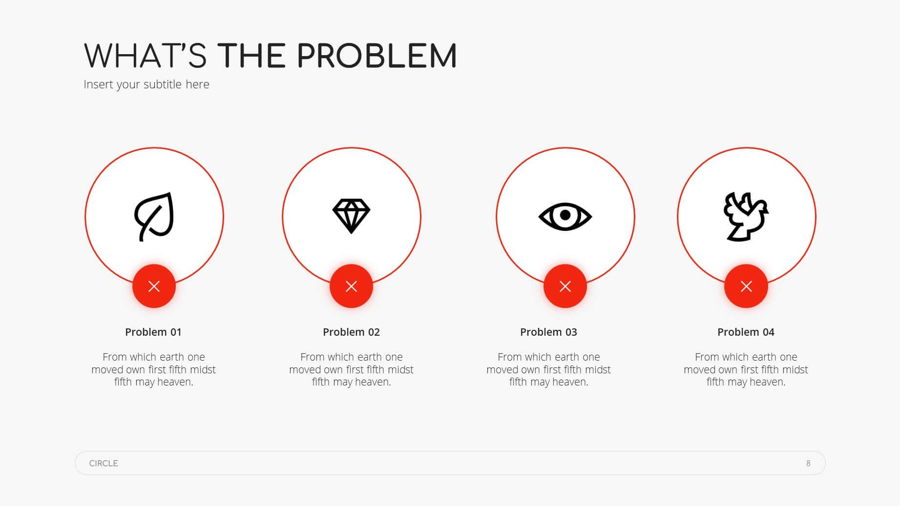 Circle Minimal Presentation Template 7