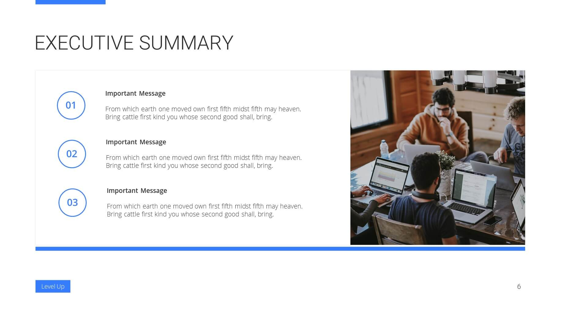 Level Up Business Presentation Template 5