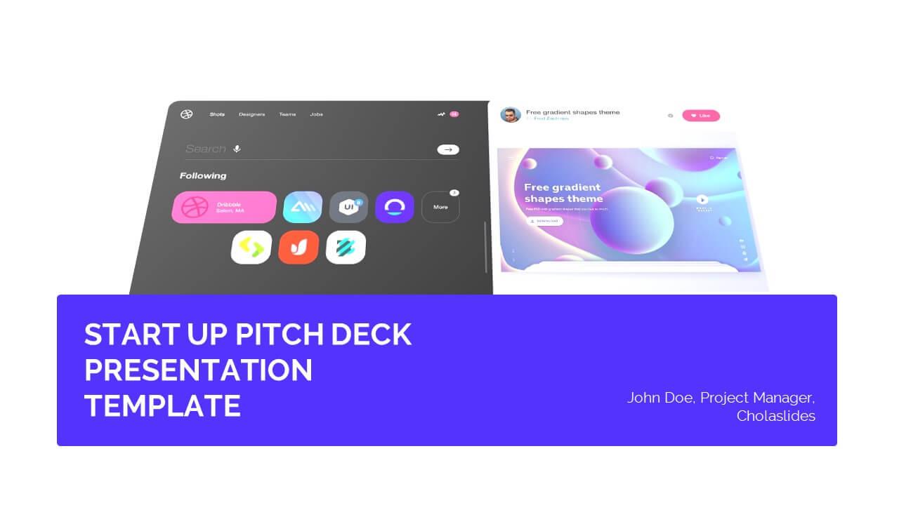 Startup Pitch Deck Presentation Template 2
