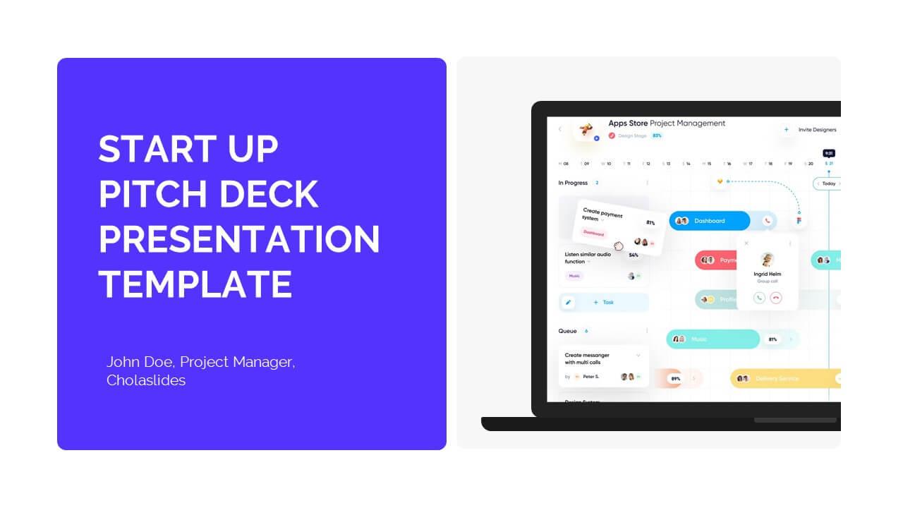 Startup Pitch Deck Presentation Template 3